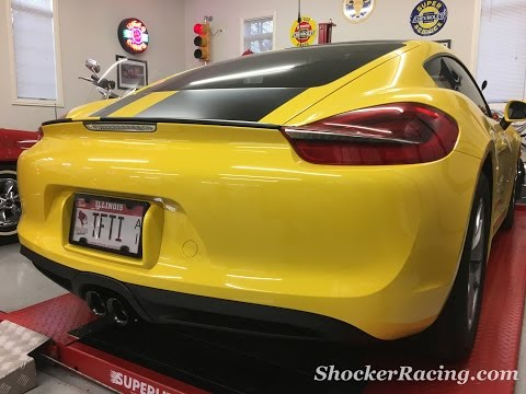 Fabspeed Supercup Race Exhaust Install Porsche Cayman 981 Before and After