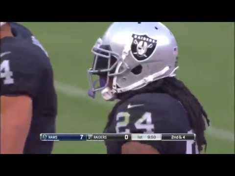 Marshawn Lynch First Run As An Oakland Raider Vs Rams