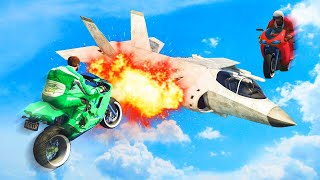 KAMIKAZE BOMBER PLANES vs. FLYING BIKES! (GTA 5 Funny Moments)