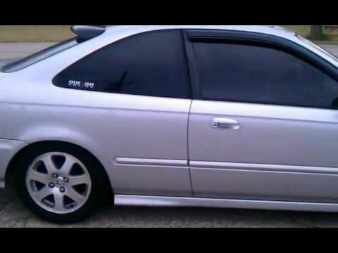 Jdm Gray Honda Civic Ex And Blue Honda Civic Si Youtube
