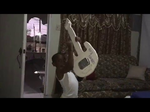 Young Jamaican Reggae Rock Star