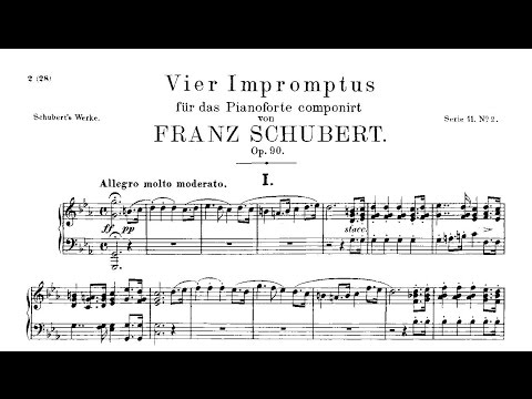 Шуберт Франц - Works for piano solo D.899 4 Impromptus