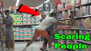 Scaring People In Public Prank (FT. IRELAND BOYS PRODUCTIONS)