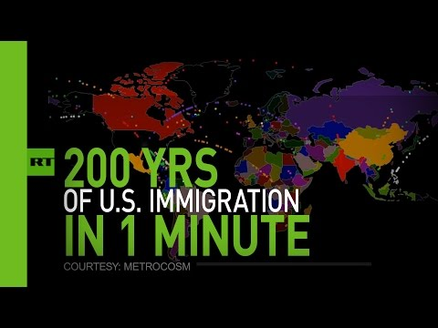 Hypnotic animation: 200 years of US immigration in 1 minute