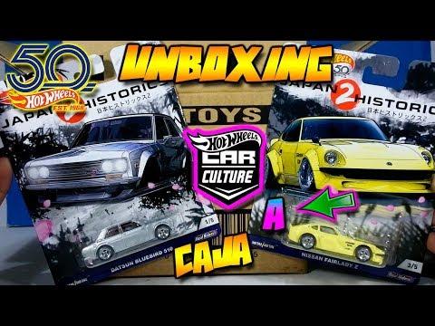UNBOXING - HOT WHEELS CAR CULTURE CAJA/CASE A 2018 - JAPAN HISTORICS 2