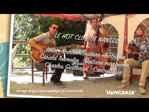 """""""Hungaria"""", Le Hot Club de Nantes, groupe de jazz manouche pour votre cocktail de mariage à Nantes"""