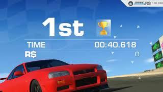 Real Racing 3 - nissan skyline gt-r v-spec (r34) mazda raceway laguna seca autocross