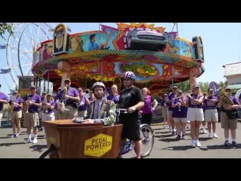 Pedal Powered with Abe Lincoln. Marching Bands. Llamas and More