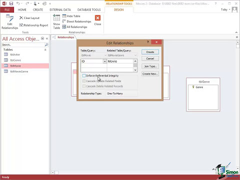 Microsoft Access 2013 Tutorial - Relationships Between Tables - Part 1 - Access 2013 Training