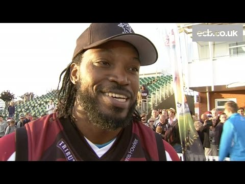 I wanted to finish with a six - Chris Gayle on Somerset's win over Hampshire