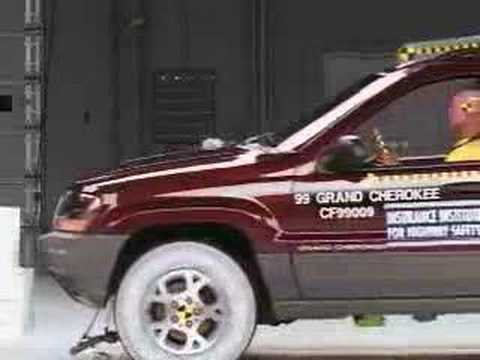 Crash Test 1999 - 2004 Jeep Grand Cherokee (Front) IIHS