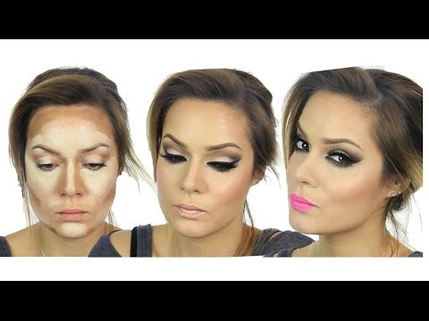 Kim Kardashian Inspired MakeUp Tutorial / Valentines Day / How to Highlight & Contour Your Face