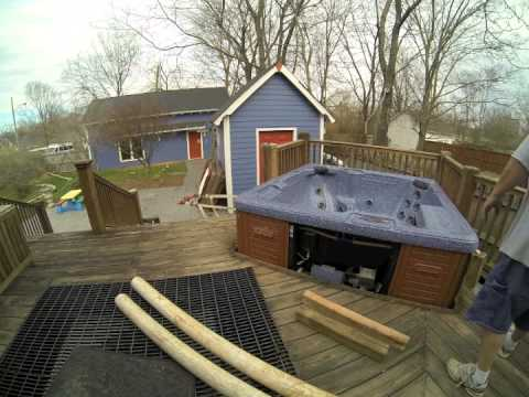 Moving Dynasty Hot Tub From Deck Hole 7x7 Hard Removal The