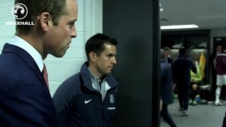 Prince William visits England dressing room | Inside Access