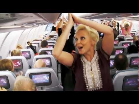 Surprise Dance on Finnair Flight to celebrate India