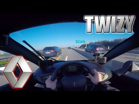 Renault Twizy on Autobahn! ...Good idea?