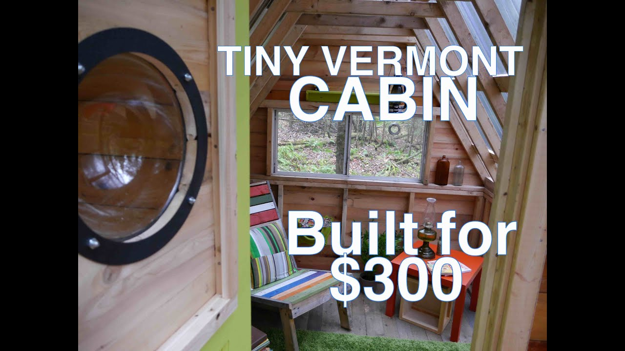 Recycled Material Cabin Camp In The Woods Tiny House