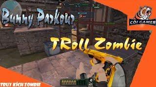 🎮 CZ57 Gold Parkour Troll Zombie Di Tích Hoang - Truy Kích Zombie