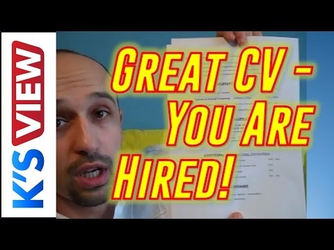 Perfect CV / resume: tips, lay-out, wording etc