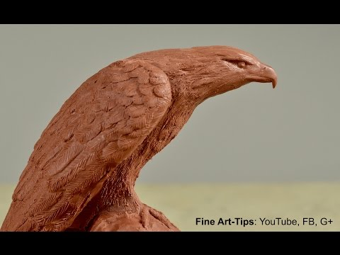 How to Sculpt an Eagle - How to Model an Eagle in Clay
