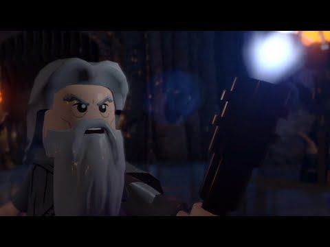 Gandalf vs Saruman as LEGOS