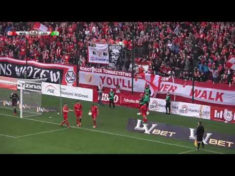RTS Widzew Łódź - Legia II Warszawa 2:0 - Gol Mateusza Michalskiego
