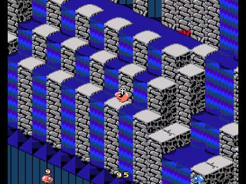 Snake Rattle'n Roll Walkthrough NES