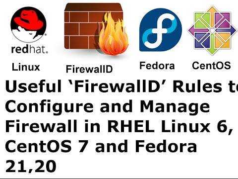 Useful 'FirewallD' Rules to Configure and Manage Firewall in Redhat Linux, CentOS 7 & Fedora 23/22