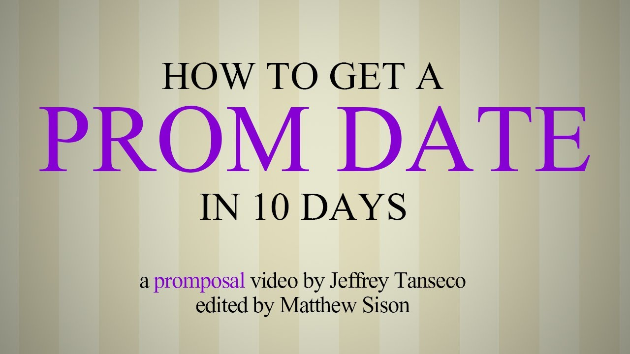 How to get a prom date in Sydney