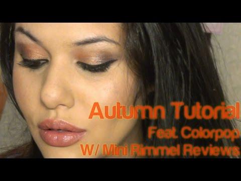 Autumn Tutorial:  W/ Mini Rimmel Reviews