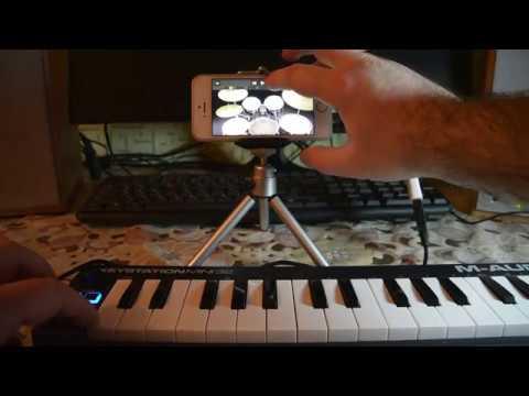 Как подключить MIDI клавиатуру к телефону Iphone 5S