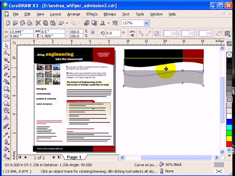 Part 1 Flyer tutorial in CorelDraw X3