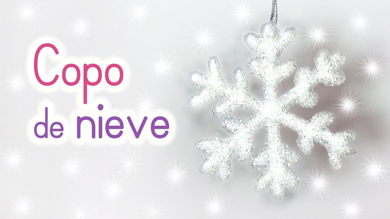 Manualidades para navidad copo de nieve adornos - Nieve para arbol de navidad ...