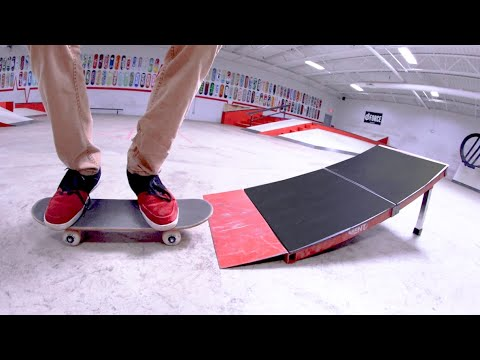 Kid Skateboard VS Launch Ramp! / You Must Do 5 Tricks!