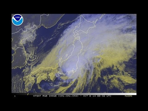 Typhoon Phanfone Affecting Japan (October 04 - 06, 2014)