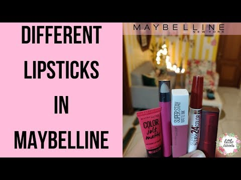 One Brand Lipstick Review || Maybelline Lipsticks