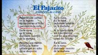 "Spanish nursery rhymes ""El pajarito"" with lyrics"