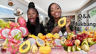 EXOTIC FRUIT Q&A MUKBANG | BEFORE AND AFTER PICS | EATING SHOW