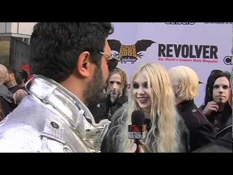 Taylor Momsen Interview at Revolver Golden Gods 2011 on Metal Injection Music Videos