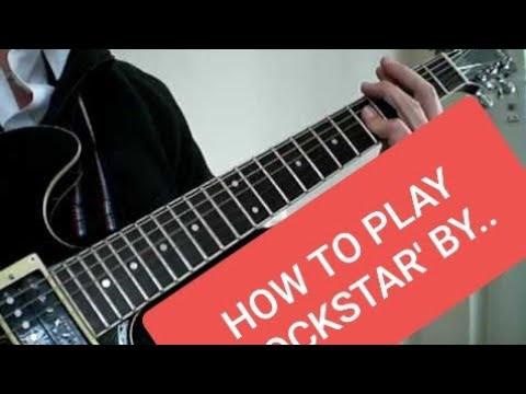 Nickelback rockstar guitar chords