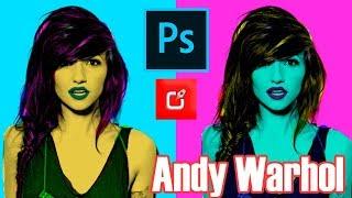 PHOTOSHOP TUTORIAL, como hacer Retrato Pop Art inspirado en Andy Warhol