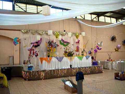 Carnaval decoracion mov youtube for Decoracion de fiestas de 15