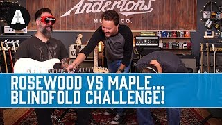 Rosewood vs Maple - Tonewood blindfold challenge! - Andertons Music Co.