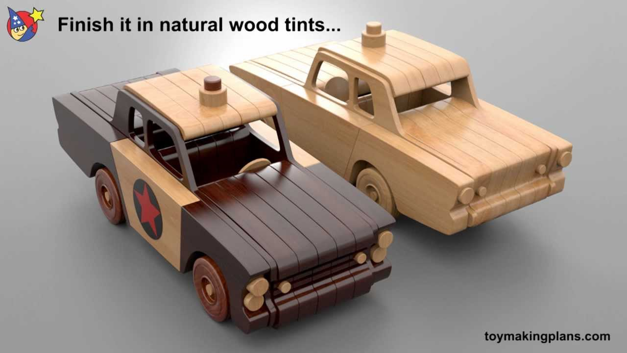 Wood Toy Plans - Mayberry Police Car - YouTube