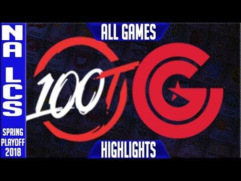 100 vs CG Playoffs Highlights ALL GAMES | NA LCS Semi final Spring 2018 100 Thieves vs Clutch Gaming