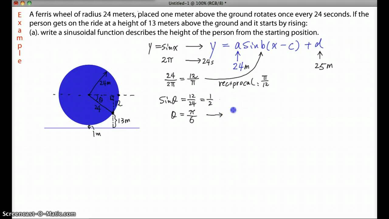 how to find the phase shift of a trig function