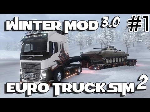 Euro Truck Simulator 2 - Winter Mod v3.0 ( Volvo FH 2014 )