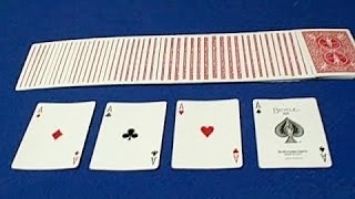 Amazing Card Trick With 4 Aces to Impress Anyone