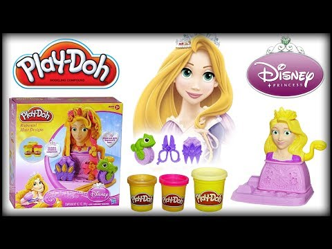 ♥ Play-Doh Disney Princess Rapunzel Tangled Hair Designs Playset (Play-Doh Set for Little Girls) Music Videos