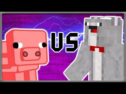 PIG VS. ROSS   Minecraft - Man Vs. Pig